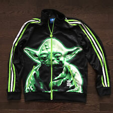 Star Wars Yoda adidas Track Jacket Youth Boys Kids L Size 13-14