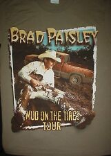 BRAD PAISLEY Mud on The Tires Concert Country 2003 Tour Brown Small S T SHIRT