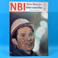 DDR NBI 21 1968 Täve Schur Alextunnel Artisten Bonn Mexiko DAMW Die Schmiere N
