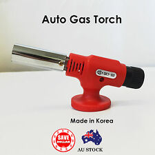 Butane Gas Burner Torch Auto Ignition BBQ Camping Welding Solder 1450°C KOREA