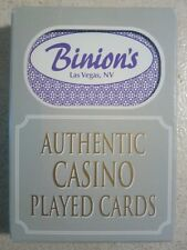Binion's Las Vegas Authentic Casino Played Cards - Trimmed - Sealed