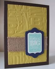 Stampin Up! Alphabet Press Textured Impressions Embossing Folder NEW Retired