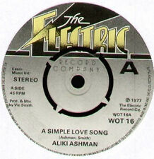 ALIKI ASHMAN - A Simple Love Song / Got To Be You  - 1977 The Electric Record Co