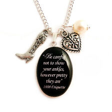 Victorian gothic necklace Steampunk Etiquette NEVER show your ANKLES goth cameo