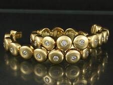 Brillant Tennis Armband 3,12ct (Gravur) Überlänge 23cm   51,9g 750/- Gelbgold