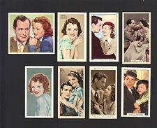 CIGARETTE/TRADE/CARDS. Film Star. JANET GAYNOR. (8 Cards).