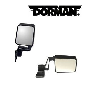 2PCS DORMAN L&R Side View Mirror Fit Jeep Cherokee, Comanche, Wagoneer, Wrangler