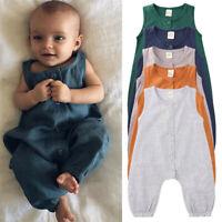Newborn Baby Boy Girl Summer Cotton Romper Jumpsuit Bodysuit One-pieces Clothes