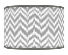 40cm Chevron Light Grey Silver Geometric Handmade Lampshade Light Shade 396