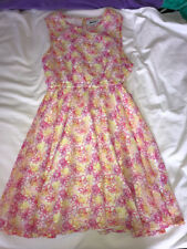 DKNY Sleeveless Floral Print Dress Girls Size Large 10/12