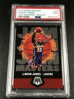 LEBRON JAMES 2019 PANINI MOSAIC #16 JAM MASTERS INSERT PSA 9 LA LAKERS NBA (A)