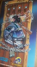 CAROLINA PANTHERS Blue Home Game ticket POSTER 1995 Earn bucks VINTAGE ORIGINAL