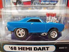 MUSCLE MACHINES - '68 DODGE HEMI DART - FUEL INJECTED GASSER 1/64 DIECAST