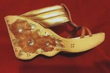 Women's Cole Haan G Series  Sz 5.5 Embellished Wavy Wedge Heel Rhinestones