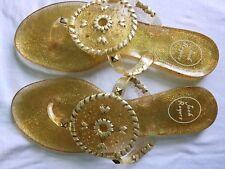 Jack Rogers Georgica Jelly Sandals, Gold Glitter, Size 9: Beach Wedding