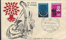 FDC 6/6/60 Uruguay, Ano Mundial Del Refuugiado