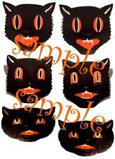 Halloween Vintage Cat Decorations Waterslide Decals