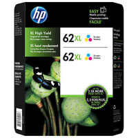HP Genuine 62XL Color Twin Ink Cartridges Retail Box EXP. 2019 HP ENVY 5540,5643