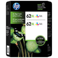 HP Genuine 62XL Color Twin Pack of Ink Cartridges in Retail Box EXP. 2019