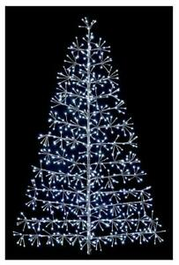 1.5m Silver Starburst Xmas Tree with White LEDs Outdoor Christmas Decoration