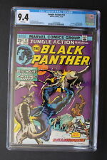 JUNGLE ACTION #12 Black Panther 1st SOMBRE 1974 KILLMONGER cover & story CGC 9.4