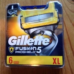 GILLETTE FUSION 5 PROSHIELD BLADES  (TOTAL 14 HEADS )