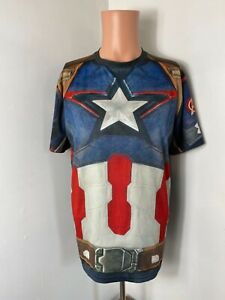 Under Armour men's Age of Ultron Avengers Captain America compression shirt 2XL