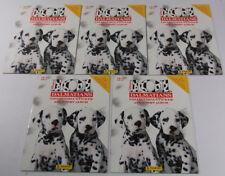 Lot of (5) 1996 Panini Walt Disney's 101 Dalmatians Sticker and Story Album