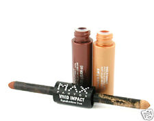 MAX FACTOR VIVID IMPACT EYESHADOW DUO # TWO CENTS  Brown/Gold