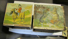 McLoughlin Bros Victorian Picture and ABC Color Litho Wooden Dog Cat Block Box