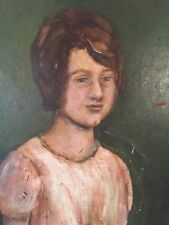 Portrait Of Young Woman - Oil On Board
