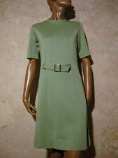 CHIC VINTAGE ROBE JERSEY 1960 VTG DRESS 60s KLEID 60er ABITO RETRO (38/40)