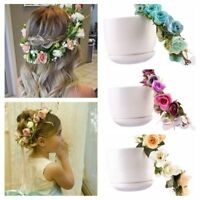 Circle Weaving Baby Mom Headwear Bridal Head Band Girl Flower Hairband Holiday