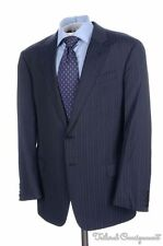 ARMANI COLLEZIONI Giorgio Recent Blue Striped Wool Jacket Pants SUIT Mens - 44 R