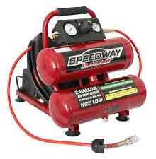 Speedway 2 Gallon Twin Air Compressor - Includes 25' Air Hose with Reel - 52024