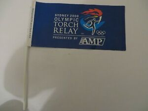 2000 Sydney Olympic Games Olympic Torch Relay AMP Flag