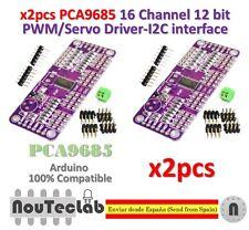2pcs PCA9685 16 Channel 12 bit PWM Servo Driver I2C Interface for Arduino