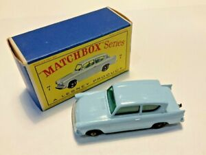 Lesney Matchbox #7 Ford Anglia with original box