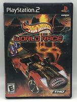 Hot Wheels: World Race (Sony PlayStation 2, 2003) PS2 Complete CIB