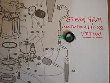 Gaggia Classic - Steam Arm  / Wand Gasket  O Ring, Upgraded to Viton, DM0041/088