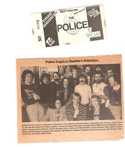 THE POLICE & THE SPECIALS CONCERT TICKET FEB 1st 1980 SHOWBOX  SEATTLE