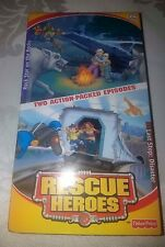 New Sealed Rescue Heroes VHS Movies Rock Star on the Rocks Last Stop: Disaster