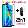 For Huawei P30 P20 Pro 2 in 1 Screen Protector / Camera Lens Tempered Glass Film