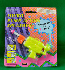 Micro Pump-Action Splasher Toy Squirt Gun 1993 Wing Tat Company New Unopened