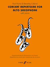 Concert Repertoire for Alto Saxophone Instrumental Solo Piano FABER Music BOOK