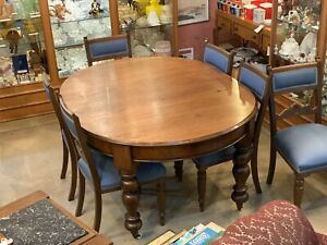 1860's Oak Dining Table