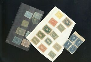 CONFEDERATE STATES OF AMERICA, Assortment of Stamps hinged on a page, stock page