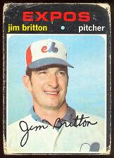 1971 TOPPS OPC O PEE CHEE BASEBALL #699 JIM BRITTON VG MONTREAL EXPOS CARD