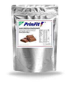 1 kg Whey Protein Cioccolato - Proteine Siero del Latte Concentrate - PrinFit