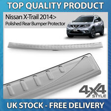 FITS NISSAN X-TRAIL 2014+ POLISHED CHROME STAINLESS STEEL REAR BUMPER PROTECTOR
